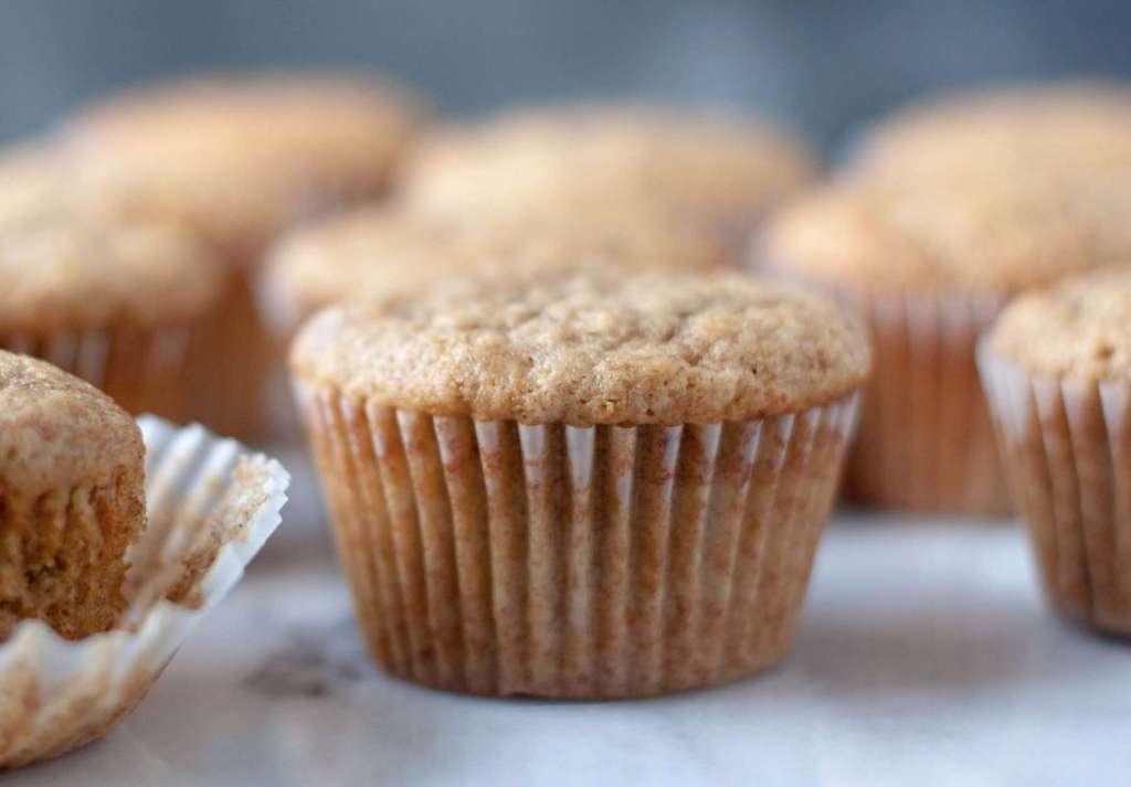 Banana Cupcakes with brown sugar cinnamon buttercream