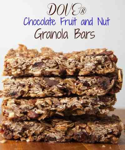 DOVE® Chocolate Fruit and Nut Granola Bars