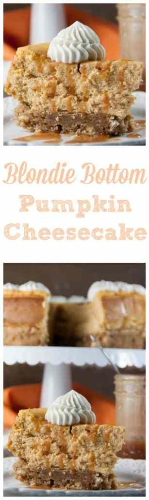 blondie bottom pumpkin cheesecake