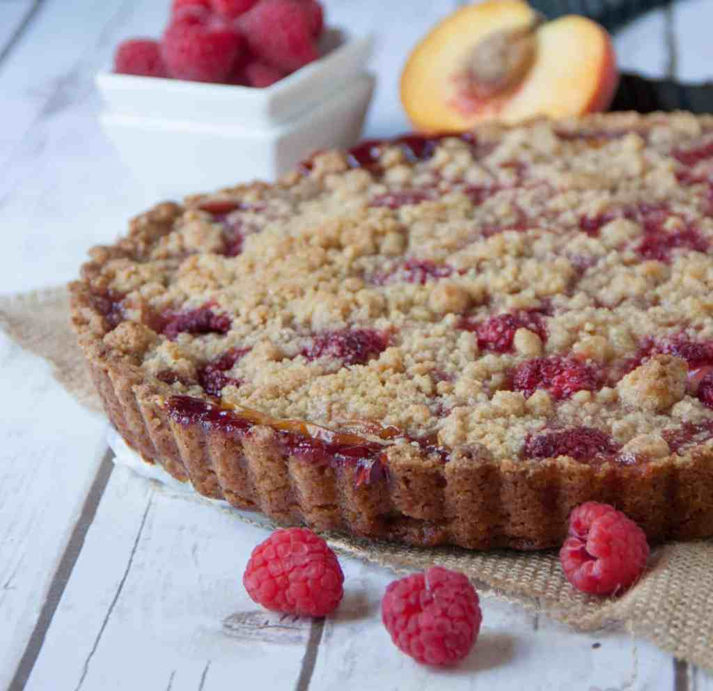 easy fresh peach tart