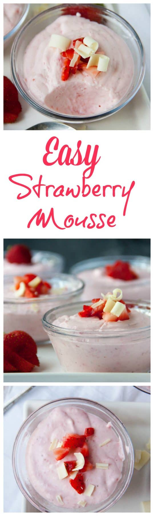 Easy strawberry mousse no eggs required boston girl bakes when ready to serve you can top with whipped cream chopped strawberries andor shaved white chocolate easy strawberry mousse sisterspd