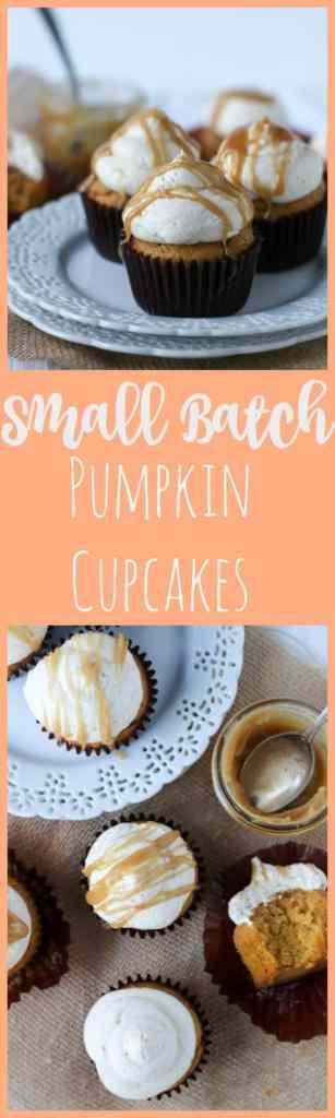 easy pumpkin cupcakes (small batch)