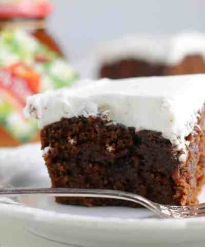 Gingerbread Poke Cake (+Video!)