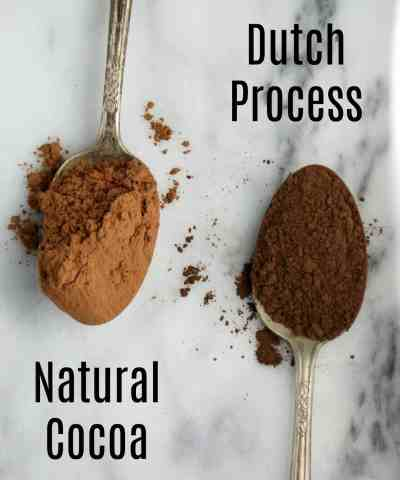 Natural Cocoa Vs Dutch Process Cocoa Powder