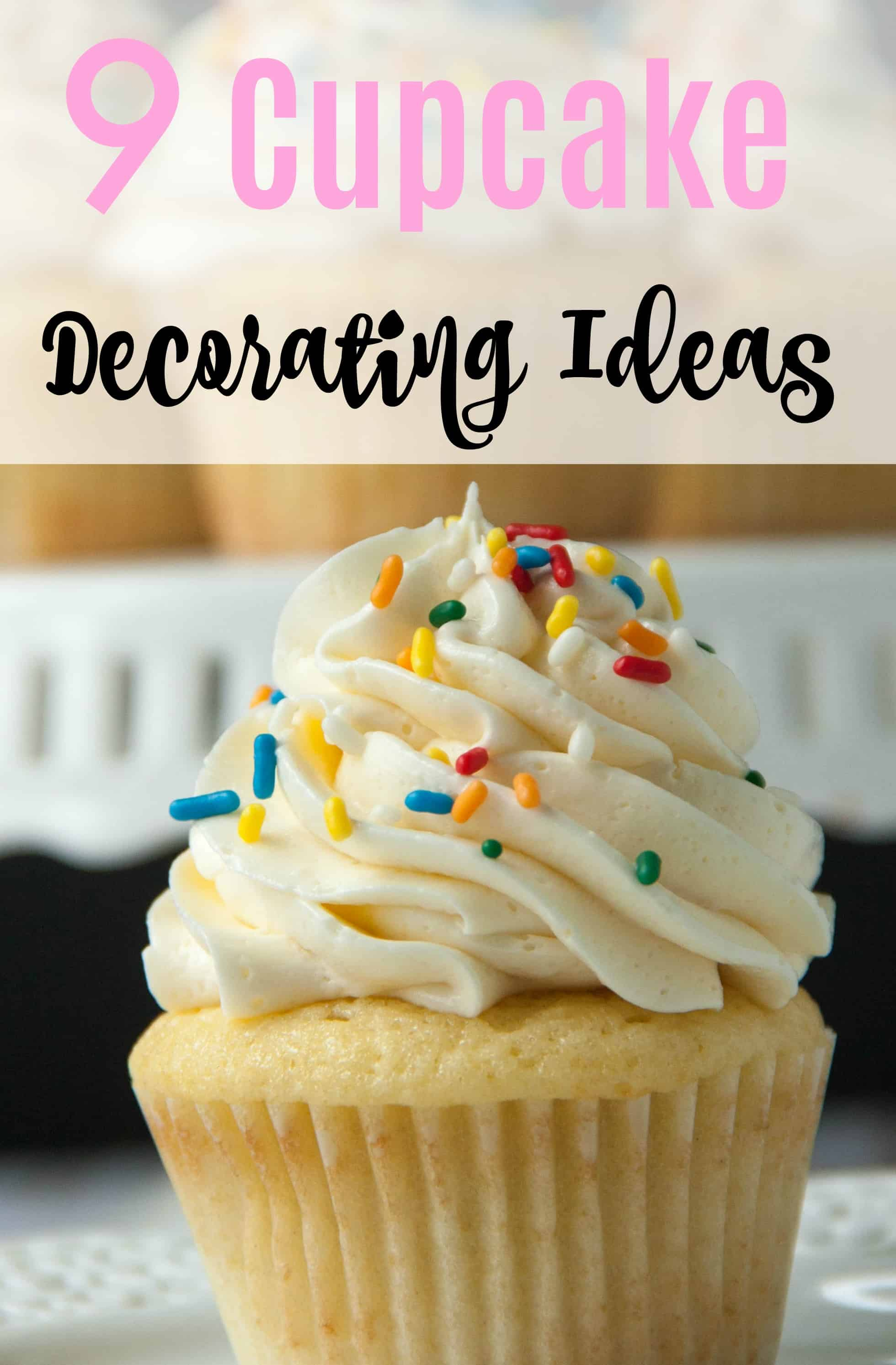 9 Easy Cupcake Decorating Ideas   Boston Girl Bakes 9 Easy Cupcake Decorating Ideas