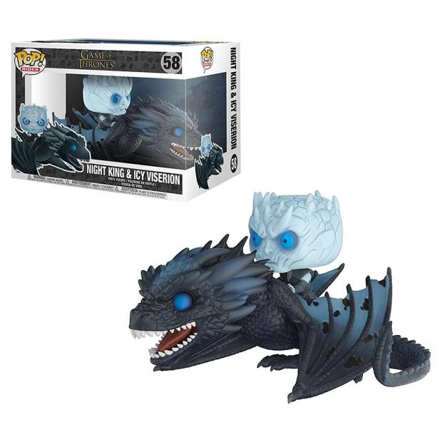 The Night King and Icy Viserion Funko Pop! figures. (Photo by Funko Pop!)
