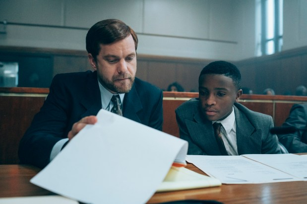 "Joshua Jackson and Caleel Harris in ""When They See Us"" (Photo: Netflix)"