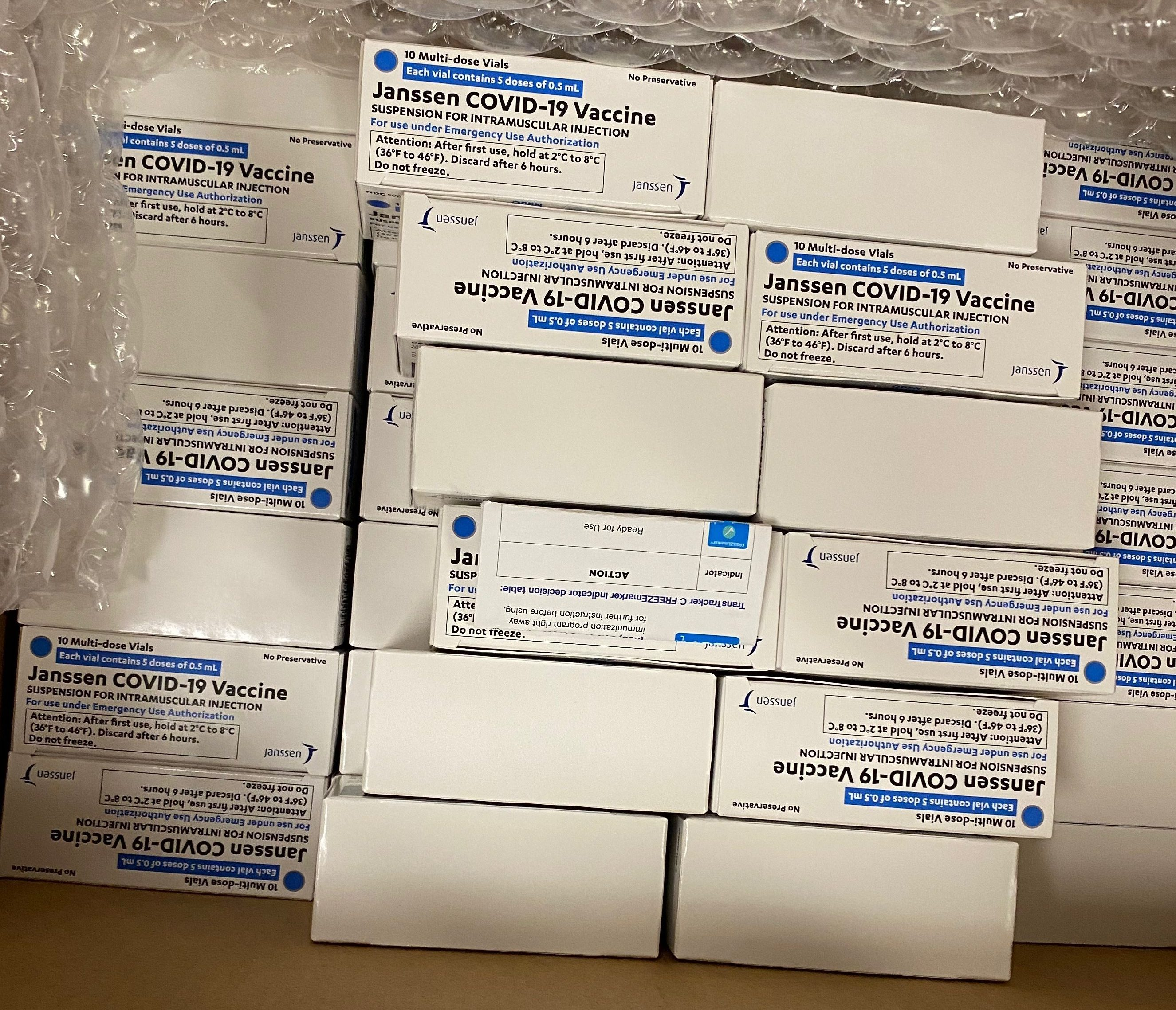Johnson & Johnson coronavirus vaccine doses arrive in Boston at Tufts Medical Center