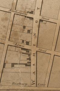 Hale Map 1814 Roxbury Line segment