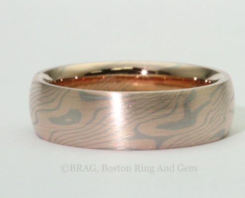 Chris Ploof Design Birch Mokume wedding band