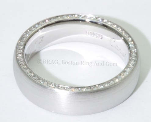 modern platinum diamond gold men's wedding band