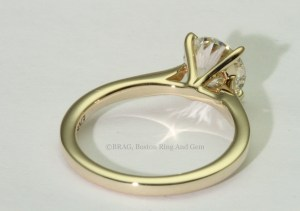 18k Yellow Gold Cathedral Solitaire Engagement Ring