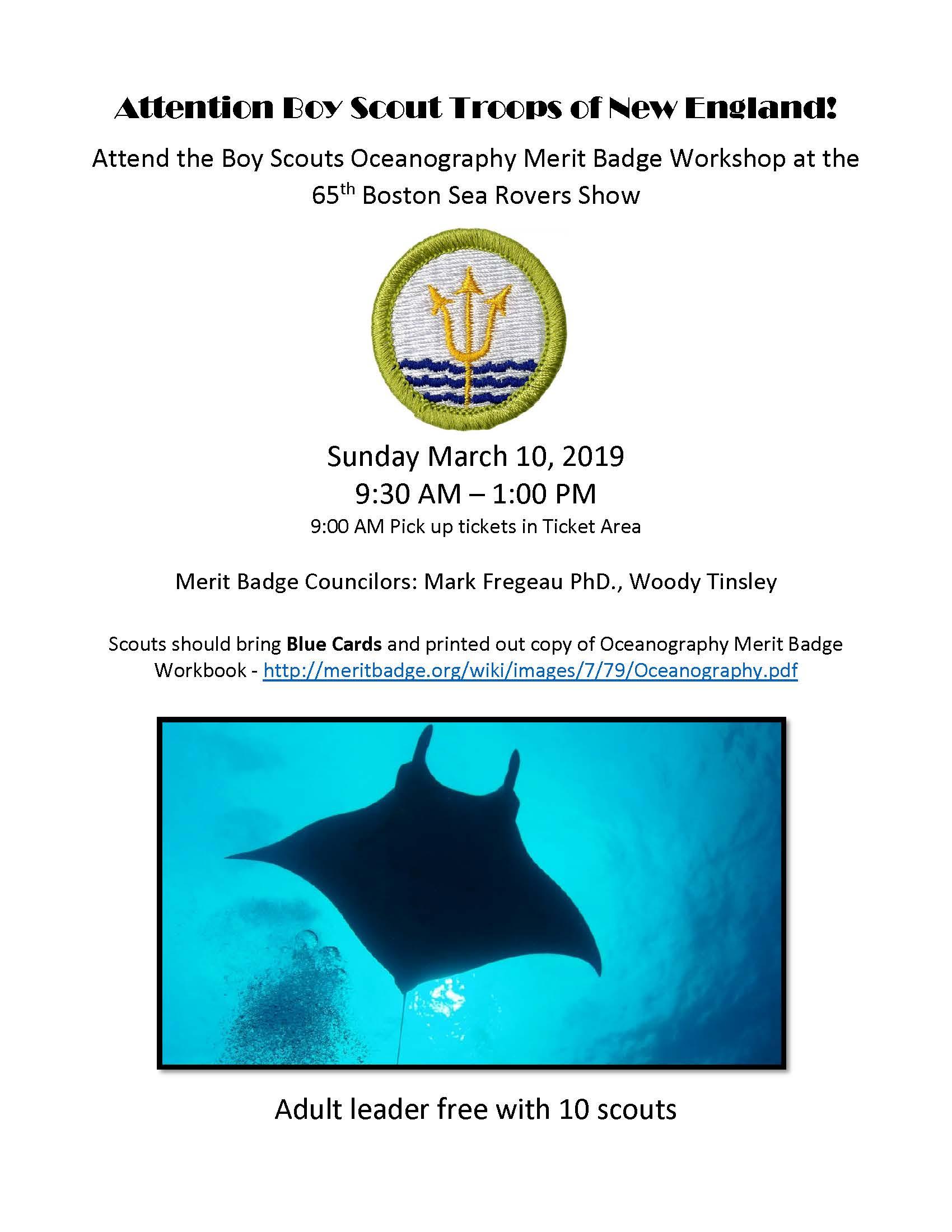 Boy Scouts Oceanography Merit Badge