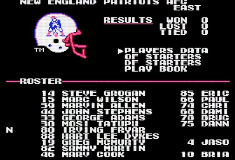 Fun Fridays Play Tecmo Super Bowl Boston Sports Online