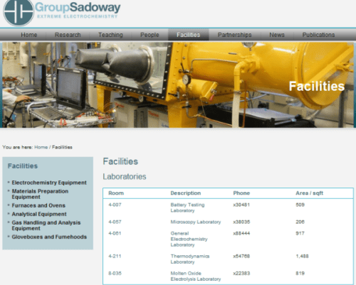 Group Sadoway - Facilities