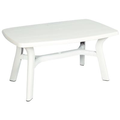 table rectangulaire de jardin 140 x 85 cm blanc