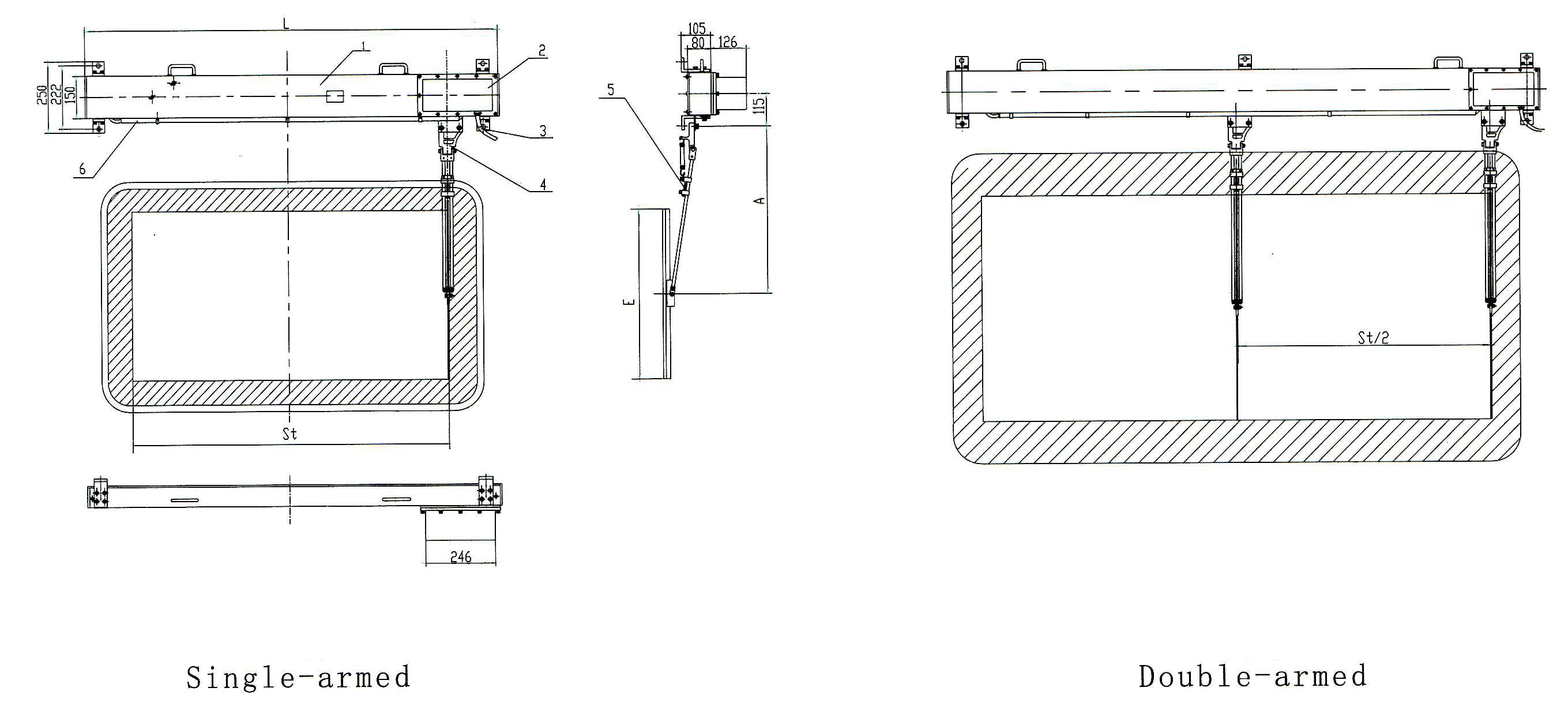 Wgp2 Marine Horizontal Electric Window Wiper Bosunmarine