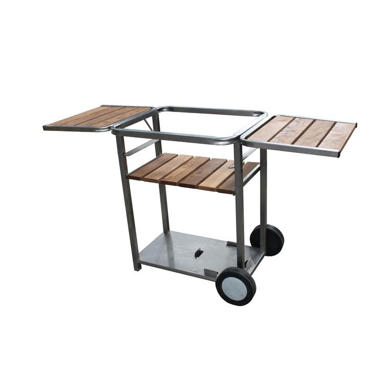 chariot inox bois