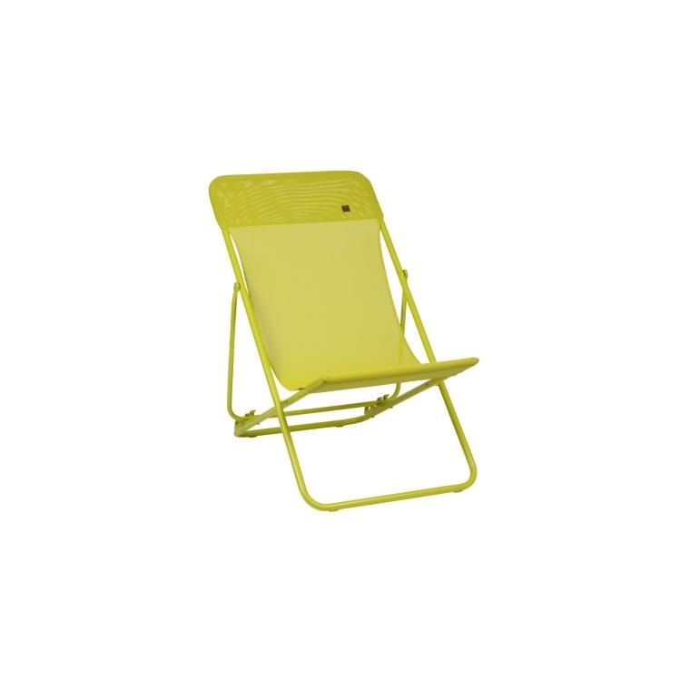 Maxi Transat Colorblock Lafuma Vert Bains De Soleil Et Transats Autres Marques Mobilier Botanic