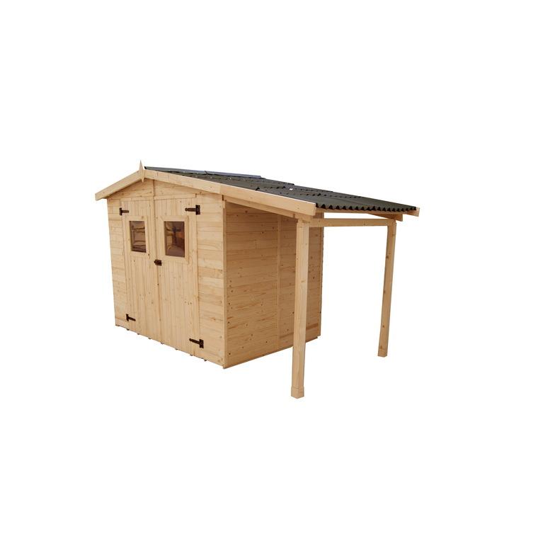 abri savoie 5 04 m2 avec plancher et bucher livre et monte