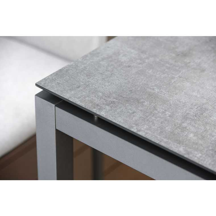 plateau fin hpl gris metalic de 160 x 90 x 1 3 cm