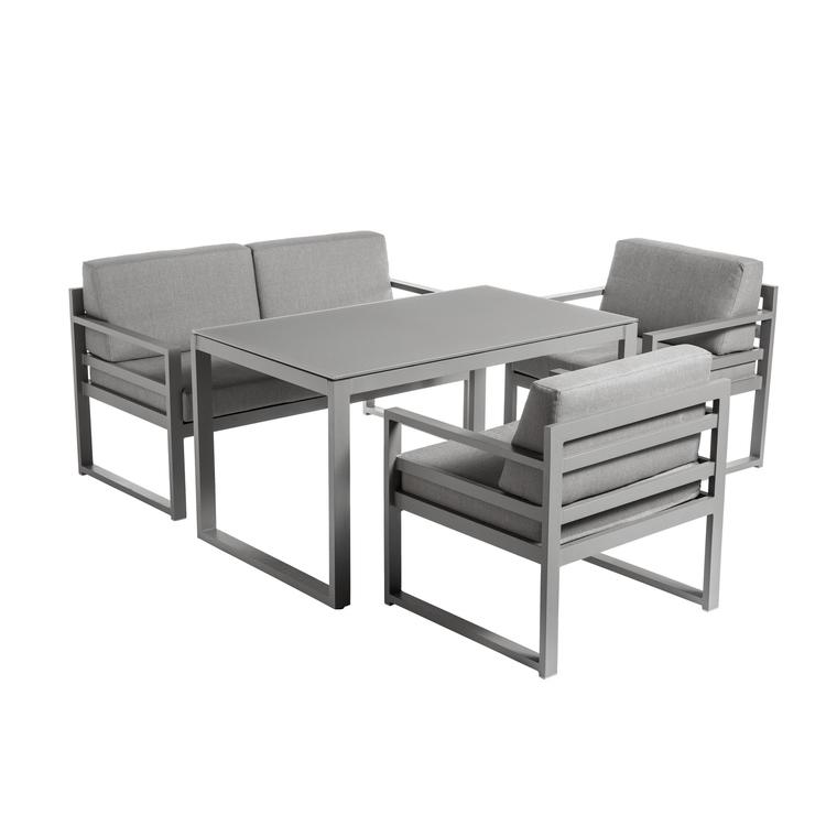 set dinatoire filao avec table haute en aluminium batyline et textilene