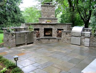 Botanica Atlanta | Landscape Design-Build-Maintain ... on Outdoor Kitchen And Fireplace Ideas id=81682