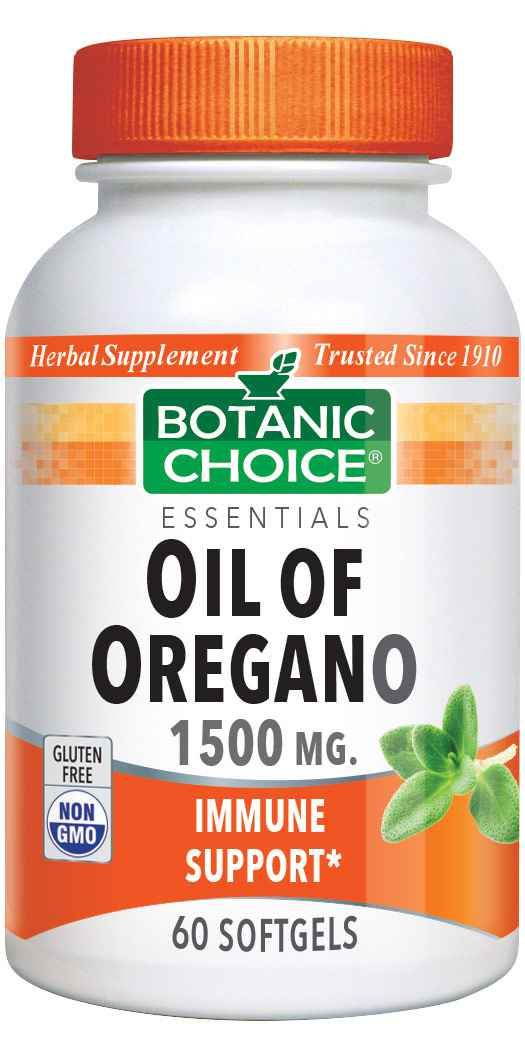 Botanic Choice Oil of Oregano Extract 1500 mg - Immune Support Supplement - 60 Softgels