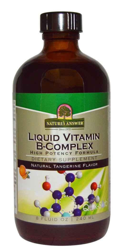 Natures Answer Liquid Vitamin B-Complex - 8 Oz