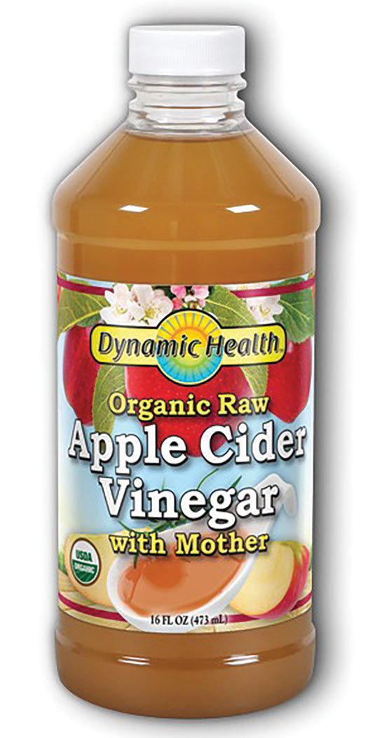 Dynamic Health Apple Cider Vinegar With Mother Certified Organic - 16 Oz