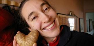 Heart-shaped potato