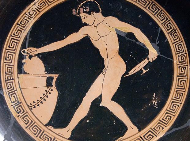 Image: Greek ceramic, ca. 490–480 BC, Louvre Museum.