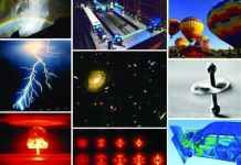 A collage of physical phenomena