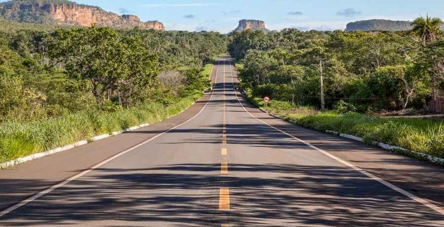 Road through the Cerrado
