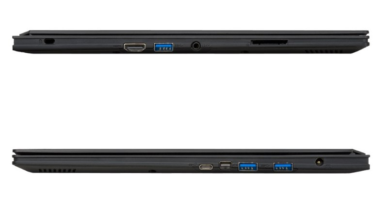 Gigabyte-Aero14 -ultrabook-IO-options