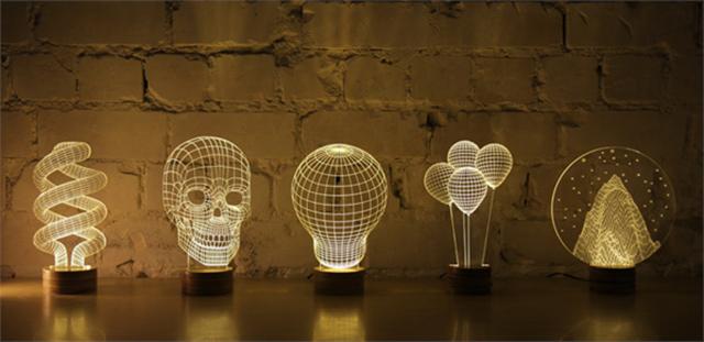 bulbing light 3d