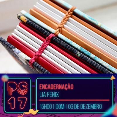 Pixel Show 2017 - workshop: Encadernação - Lia Fenix - Boteco Design