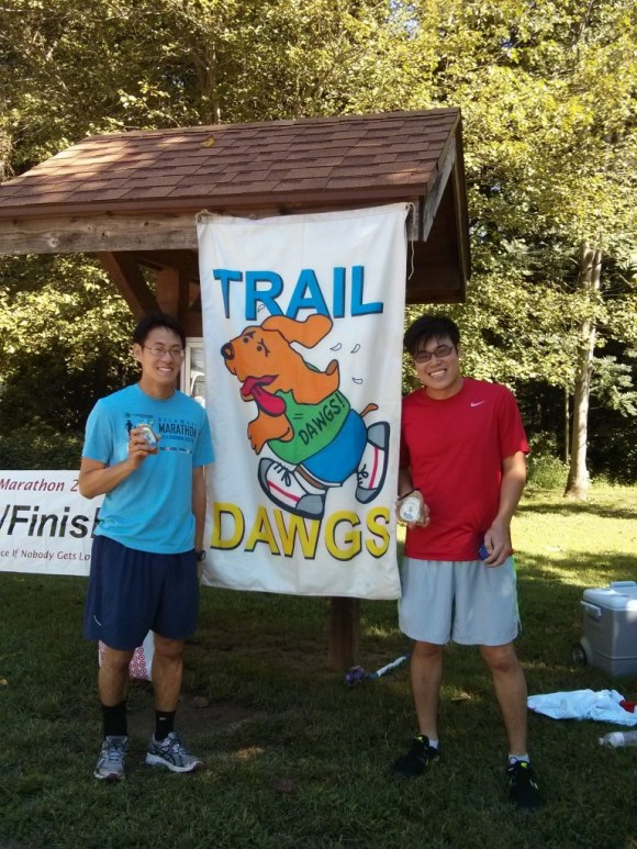 Two idiots running trail half marathon for the first time.