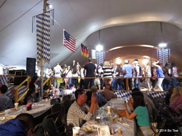 Overview of the stage @ Delaware Saengerbund Oktoberfest.