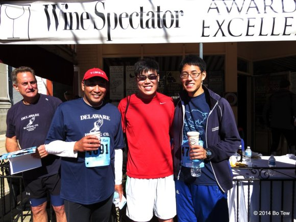 Cris, Me and Eric after the 6th Caffe Gelato 10 Miler!