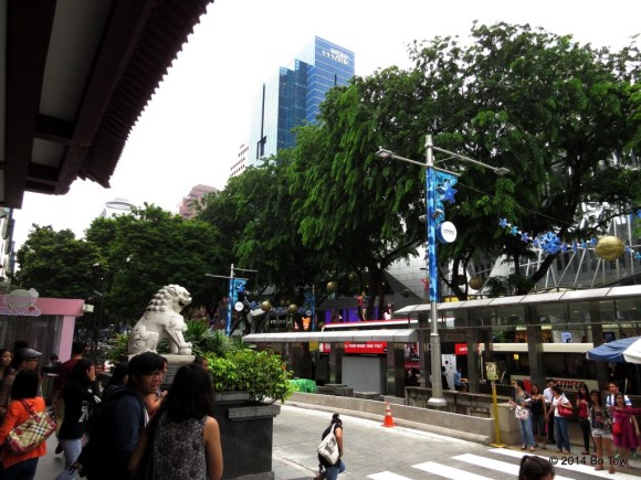 Rows of shopping malls. Orchard Road, Singapore.