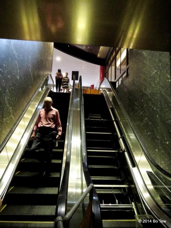 Broken escalator in Tangs. Orchard Road, Singapore.