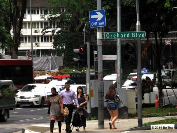 Keep moving forward. Orchard Road, Singapore.