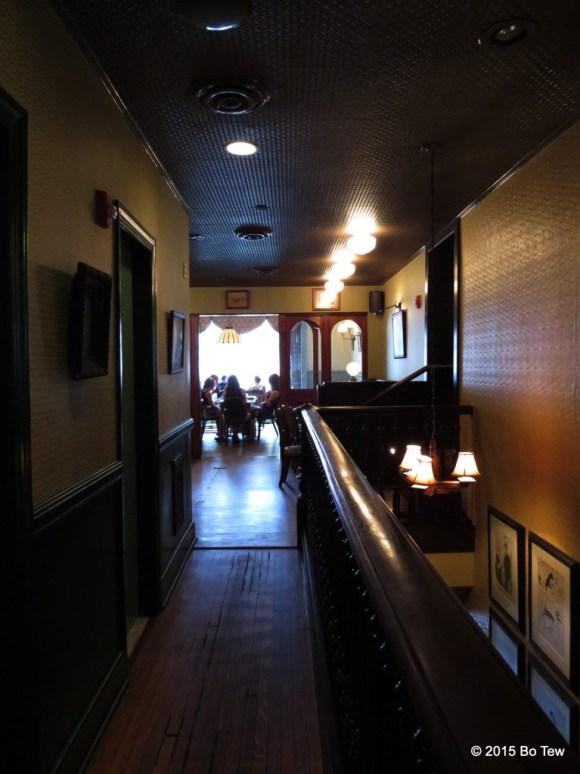 Long dark alleyway @ The Dandelion.