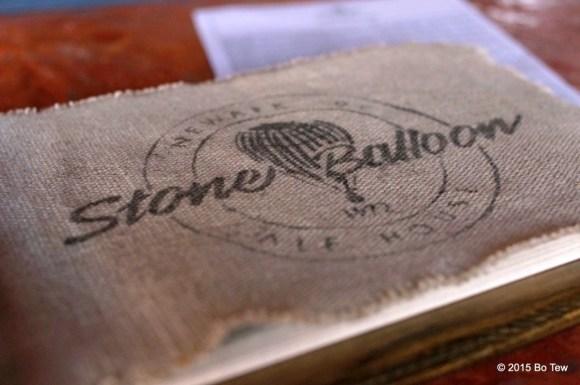 Stone Balloon menu.