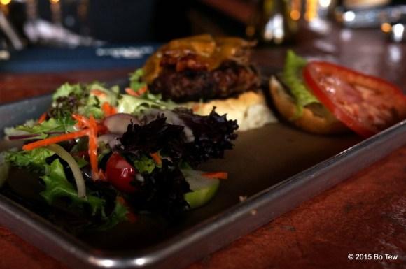 Salad and Burger.
