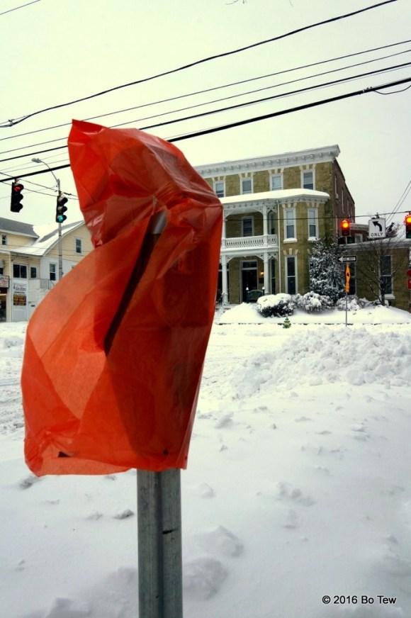 No sidewalk parking today!