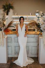 Botanical Pampas wedding shoot at The Barn at Botley Hill - Sammy Taylor Photography