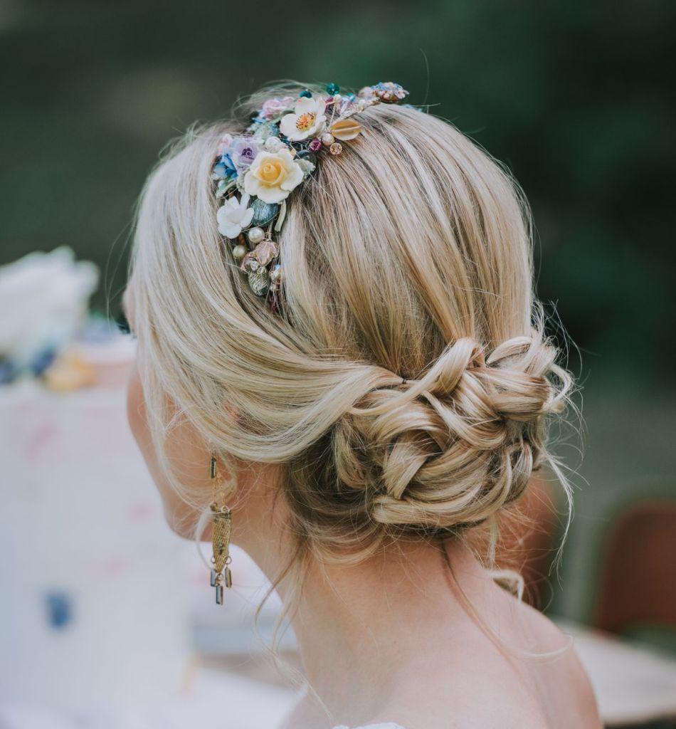 Bridal hair by Melissa Oldridge. Photo Mindy Coe Photography