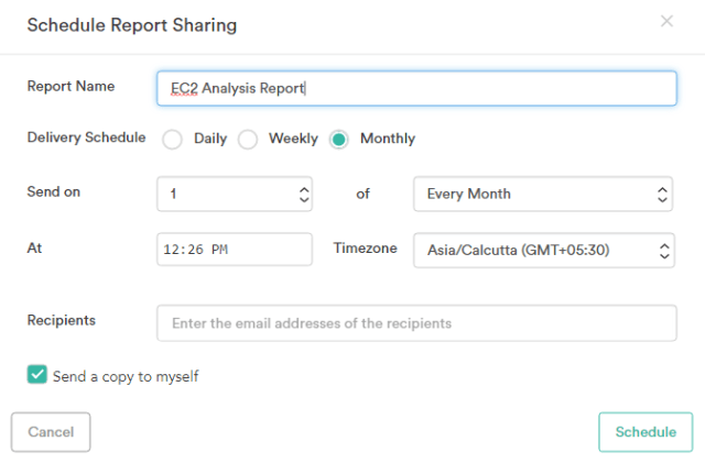 Report Scheduling and Shareability in Botmetric